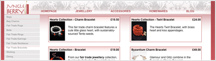 Jungle Berry E-Commerce Website Design