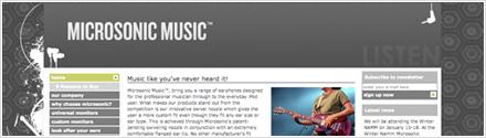 Microsonic Music - CMS E-commerce Website Design